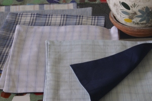 Houseproud project - cocktail napkins close up