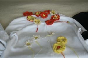 Houseproud projects - sweater remake (crochet flowers redux)