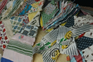Houseproud projects - vintage scraps quilt pieces