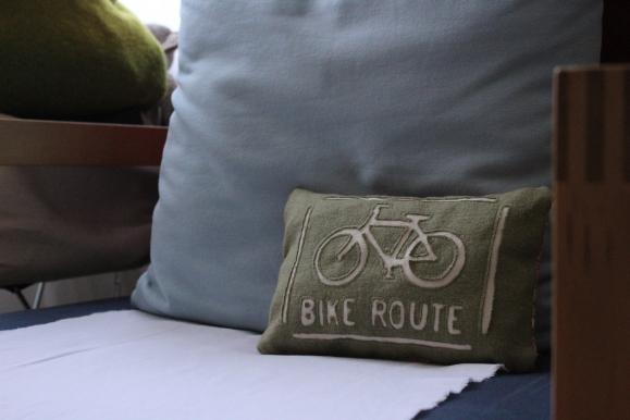 Houseproud bike charm pillow - temp home